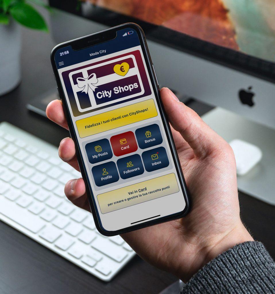 App fidelizzazione clienti - City Shops