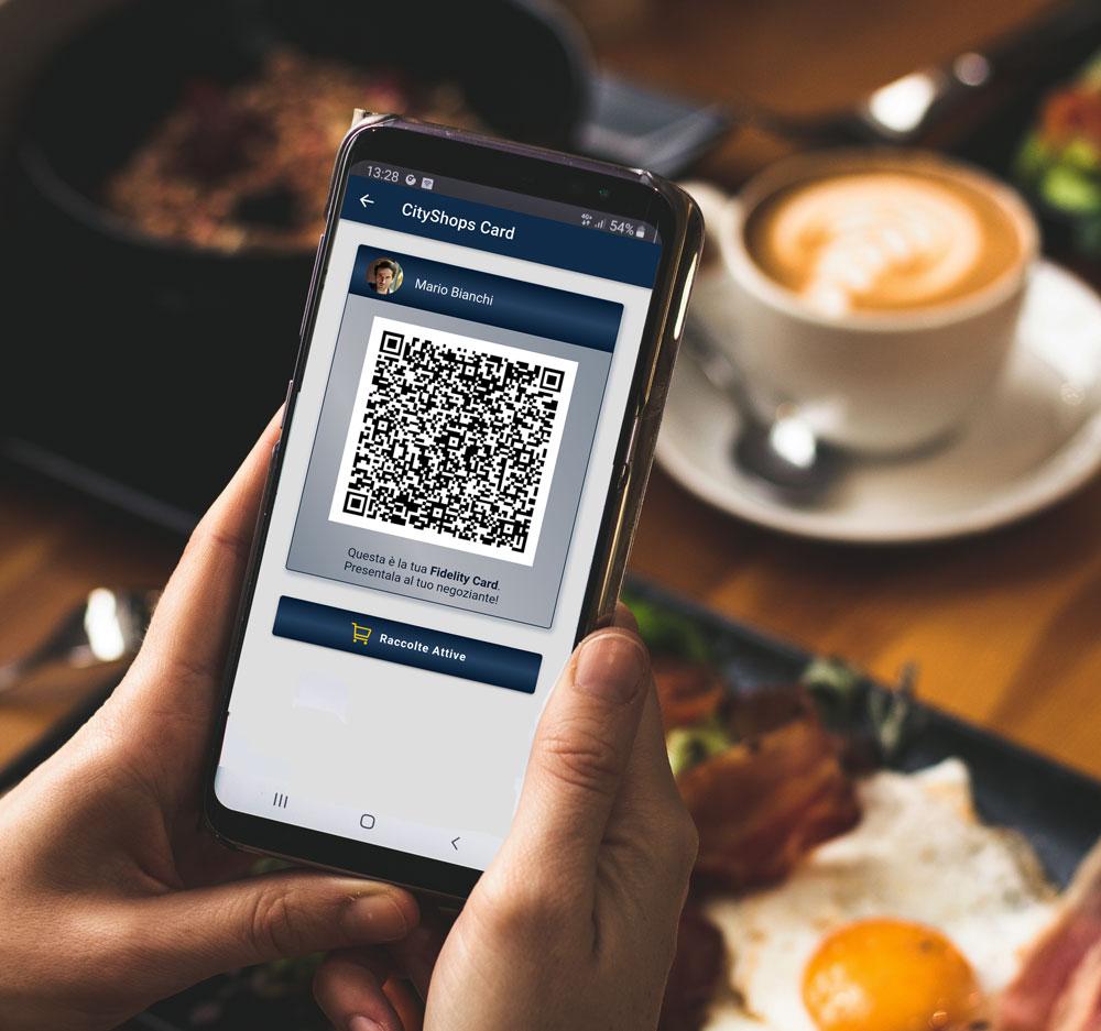 Fidelity card del cliente e possibilità di accedere alle raccolte punti attive